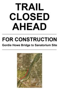 Trail closures in the Meewasin Valley Saskatoon