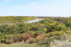 A scenic view of the Meewasin Valley Saskatoon