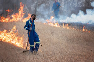 Prescribed fire in use at the Meewasin Northeast Swale