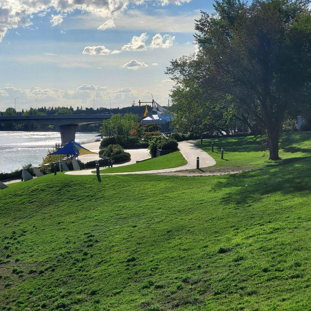 A view of River Landing in Meewasin Valley Saskatoon